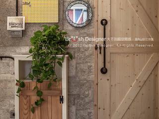 輕工業風-臥室 大不列顛空間感室內裝修設計 Walls