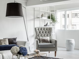 Scandinavian style living room by 潤澤明亮設計事務所 Scandinavian