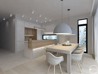 scandinavian Dining room by Tarna Design Studio