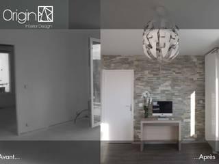 Ameublement et décoration d'un appartement neuf : Cosy Fonctionnel par Origin Interior Design Minimaliste