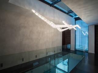 Moha crystal chandelier Manooi Corridor, hallway & stairsLighting Transparent