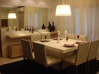 Apartamento Tramas Salas de jantar modernas por Luana Mendonça Arquitetura Moderno