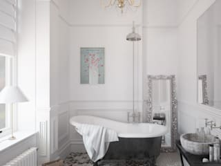 Classic style bathroom by White Crow Studios Ltd Classic