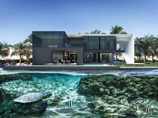 villa on the Palm Jumeirah Дома в стиле минимализм от ALEXANDER ZHIDKOV ARCHITECT Минимализм