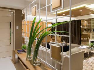 ห้องโถงทางเดินและบันไดสมัยใหม่ โดย Matheus Menezes Arquiteto โมเดิร์น