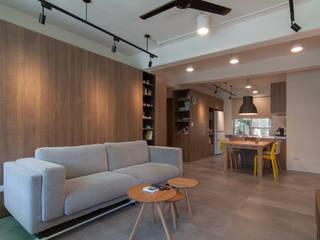 Moderne Wohnzimmer von 珞石設計 LoqStudio Modern