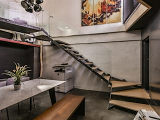 Eclectic style study/office by Luova 創研俬.集 Eclectic Reinforced concrete