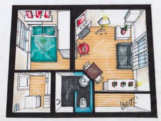 Nieuw interieur hofjeswoning Schuddegeest Den Haag Woonkamer Badkamer Slaapkamer Toilet:   door LINDESIGN Amsterdam Ontwerp Design Interieur Industrieel Meubels Kunst