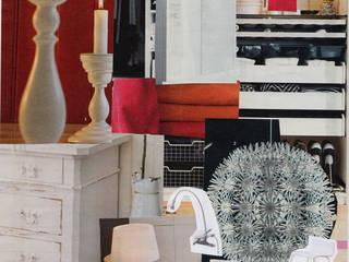 Sfeer collage nieuw interieur hofjeswoning Schuddegeest Den Haag:   door LINDESIGN Amsterdam Ontwerp Design Interieur Industrieel Meubels Kunst