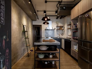 HWH house 珞石設計 LoqStudio Industrial style kitchen