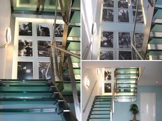 Trappenhal kantoorpand Duratherm :  Kantoor- & winkelruimten door LINDESIGN Amsterdam Ontwerp Design Interieur Industrieel Meubels Kunst