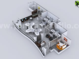 Creador del plan de la planta 3d Casas de estilo clásico de YANTRAM ANIMACIÓN Clásico