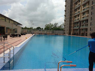 Renovation of Olympic size pool in Koparkhairane, Navi Mumbai Asian style schools by RENOLIT SE / WATERPROOFING DIVISION Asian