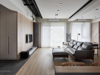 Ausgefallene Wohnzimmer von 思維空間設計 Ausgefallen