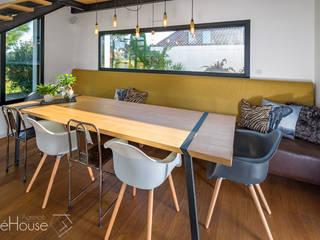 Rénovation/extension d'une villa à Anglet Salle à manger moderne par Agence CréHouse Moderne