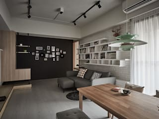 Phòng khách phong cách chiết trung bởi 思維空間設計 Chiết trung