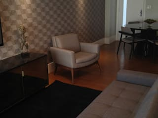 Apartamento quarto e sala: Salas de estar  por 2nsarq,Moderno