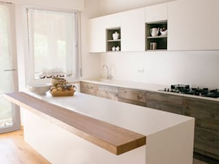 RI-NOVO Modern style kitchen Wood White