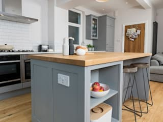 metro grey Chalkhouse Interiors Kitchen Wood Grey