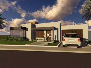 Residência unifamiliar 150m²:   por Domi Arquitetura e Interiores