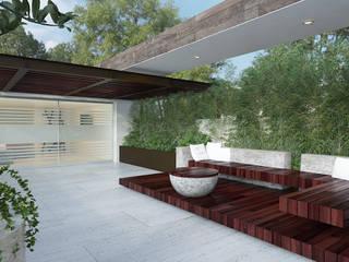 PROYECTO DL Balcones y terrazas minimalistas de 9.15 arquitectos Minimalista