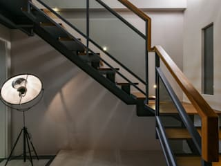 住宅 | 透天老屋 T House:  走廊 & 玄關 by 匯羽設計 / Hui-yu Interior design