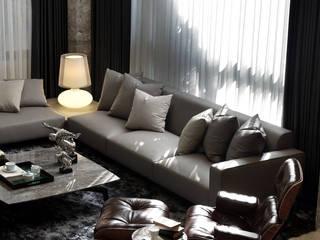 Salones de estilo moderno de 天坊室內計劃有限公司 TIEN FUN INTERIOR PLANNING CO., LTD. Moderno