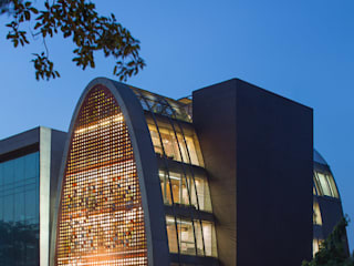 The Digit Tropical style office buildings by Anagram Architects Tropical