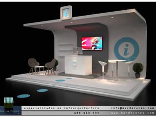 Visualización Arquitectónica (3D): Salones de eventos de estilo  de Mar de Cores estudio 3D