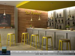 Visualización Arquitectónica (3D): Bares y Clubs de estilo  de Mar de Cores estudio 3D