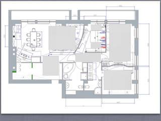 Схематичное расположение ковров в квартире.:  в . Автор – Privat Design Studio