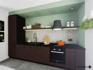PROJEKT KUCHNI: styl , w kategorii Kuchnia zaprojektowany przez Hanna Szczypińska - Architektura Wnętrz