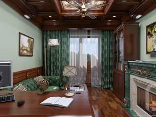 Классический кабинет в квартире: Рабочие кабинеты в . Автор – Константин Паевский-PAEVSKIYDESIGN,
