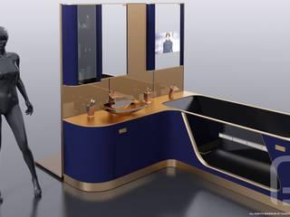 FLEXURE - Авторская коллекция мебели для ванной:  в современный. Автор – Константин Паевский-PAEVSKIYDESIGN, Модерн
