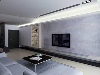 台中 魏公館 现代客厅設計點子、靈感 & 圖片 根據 拓雅室內裝修有限公司 現代風