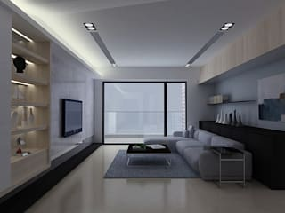 Salon de style  par 拓雅室內裝修有限公司, Moderne