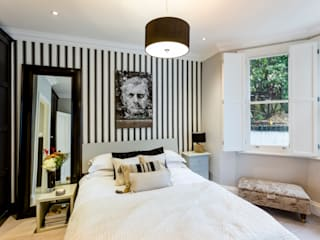 Extension and refurbishment of a ground floor apartment in Notting Hill, West London Classic style bedroom by GK Architects Ltd Classic
