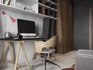 Remodelación Casa: Estudios y oficinas de estilo moderno por casas eco constructora