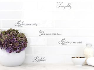 Country Brick Calligraphy:   by Decorum Tiles