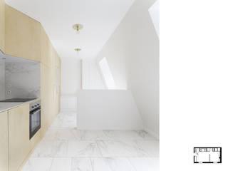 Réaménagement d'un studio à Paris 17ème GALI Sulukjian Architecte Salon minimaliste