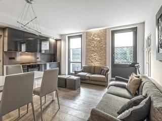 66 metri quadri Soggiorno moderno di BRANDO concept Moderno