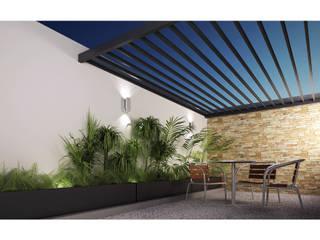 Terraza Cervantes DAR Arquitectos Balcones y terrazas minimalistas