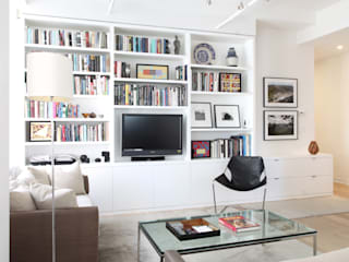 Chelsea Loft Modern Living Room by Maletz Design Modern