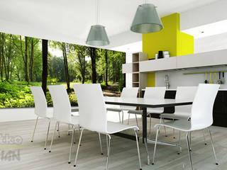 4. GLASBILDER IM ESSZIMMER Moderne Esszimmer von Mitko Glas Design Modern