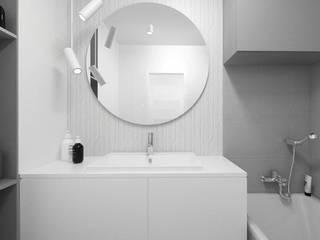 Grey Bathroom Banheiros modernos por FOORMA Pracownia Architektury Wnętrz Moderno