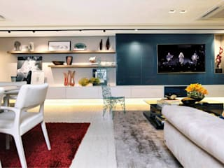 Salones de estilo moderno de Nogueira Arquitetura e Interiores Moderno