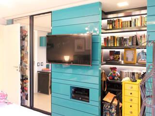 Apartamento Del Valle: Quartos  por Nogueira Arquitetura e Interiores,