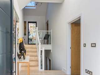 Glebe Wood House, North Devon Modern Corridor, Hallway and Staircase by Trewin Design Architects Modern