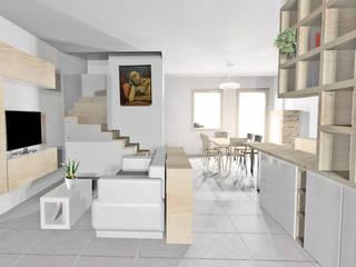 Interni VL: Soggiorno in stile  di MZ Studio Architettura Ingegneria
