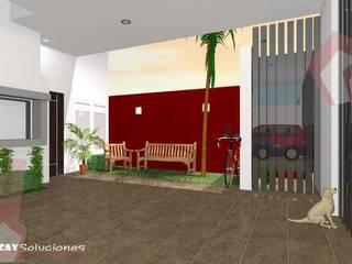 CASA MAKULIS 586 Garajes modernos de Escay Soluciones Moderno